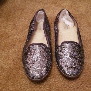 UGG glitter loafers